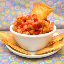 Fruit Salsa & Cinnamon Sugar Tortilla Chips